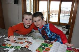 The seed catalogs began arriving early in the year. As we discussed what to plant, the boys did a great job of discussing what they liked and why they felt our shareholders would like the varities of crops from last year and a few new ones. They really did provide great insight into the process.