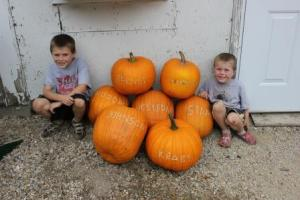 We hope you enjoyed your family's pumpkins this week. Next week we will have more fall decorations.