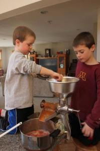 The boys were so proud that they could operate the juicer all by themselves. They even commented on what great teamwork they were doing. So fun to see how proud they were of what they were accomplishing.