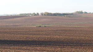 As I looked across the section this morning at about 6 a.m., I saw my neighbors already in the field planting trying again to beat Mother Nature. I thought it was important to note that while the equipment we use may be different, the end outcome is the same. No matter the size, farmers of all sizes and commodities have a desire to provide good quality products for the end consumer. Farmers all share an inborn fondness of the for the environment, their crops and their animals. It is difficult to help those who have not experienced this to fully understand it. It may be best described as a love for what they do and an inherint desire to always succeed through the extreme circumstances we know will present themselves.