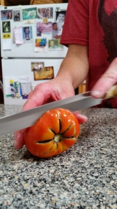 Using a serrated knife, cut off the bad part.