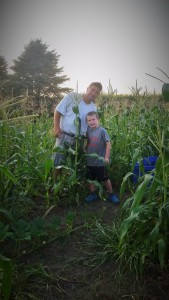 Enjoying the evening sunset together as we harvested sweet corn. In the end, we all just want more quality time with our loved ones. No technology, just Mother Nature and good conversation.